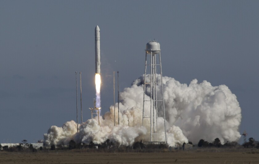 Antares rocket blasts into orbit for first time in test for NASA