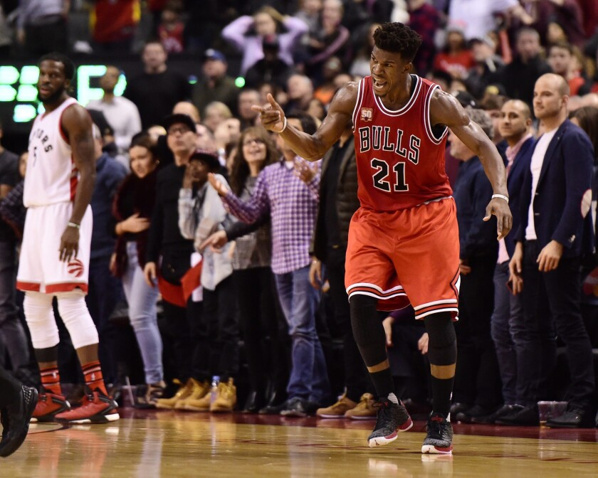 Jimmy Butler breaks one of Michael Jordan's records and leads the Bulls past the Raptors