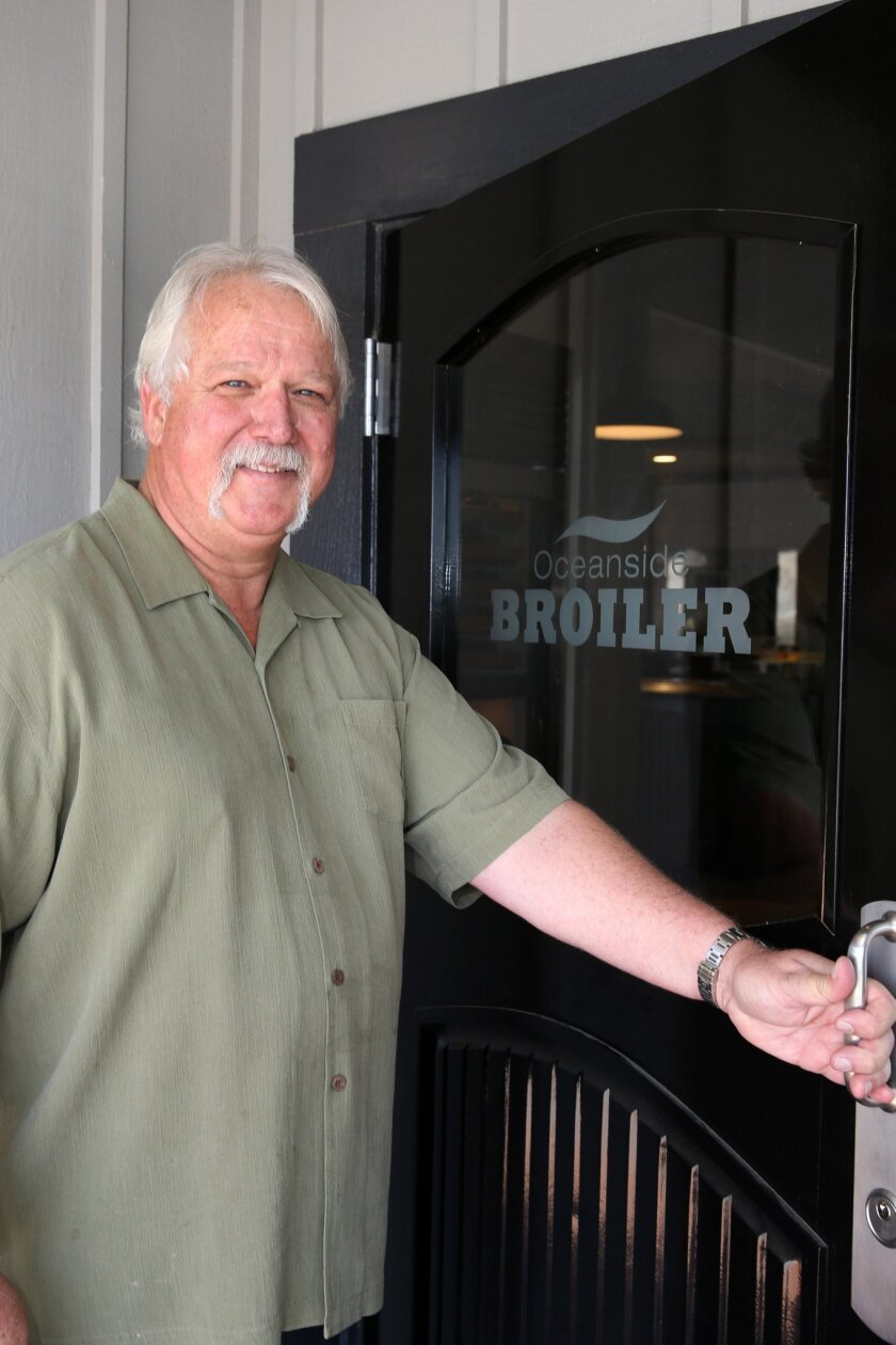 David Salisbury, co-owner of Oceanside Broiler restaurant, which opens May 15 at Oceanside Harbor. CREDIT: Bob Peterson