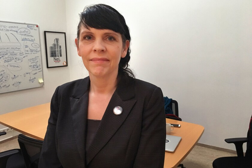 The rise of the Pirate Party — from radical fringe to focal point of Icelandic politics — has astonished even the party's founder, Birgitta Jonsdottir, seen at the party's office in Reykjavik, Iceland, on Oct. 20.