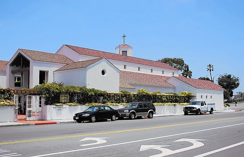St. James the Great Episcopal Church in Newport Beach would be replaced by townhomes under a plan by a developer that bought the site in May.