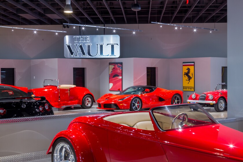 Classic cars at The Vault