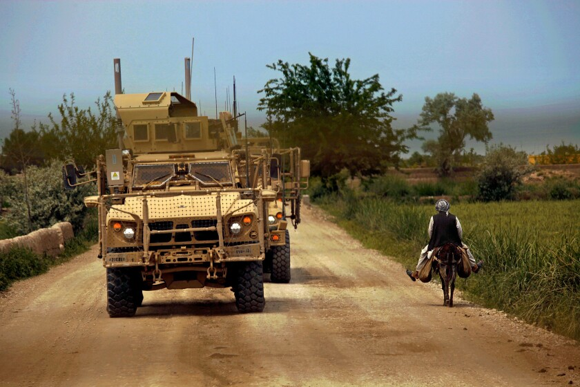 Mine-clearance convoy in Afghanistan