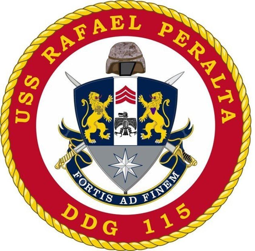 Crest of future USS Rafael Peralta