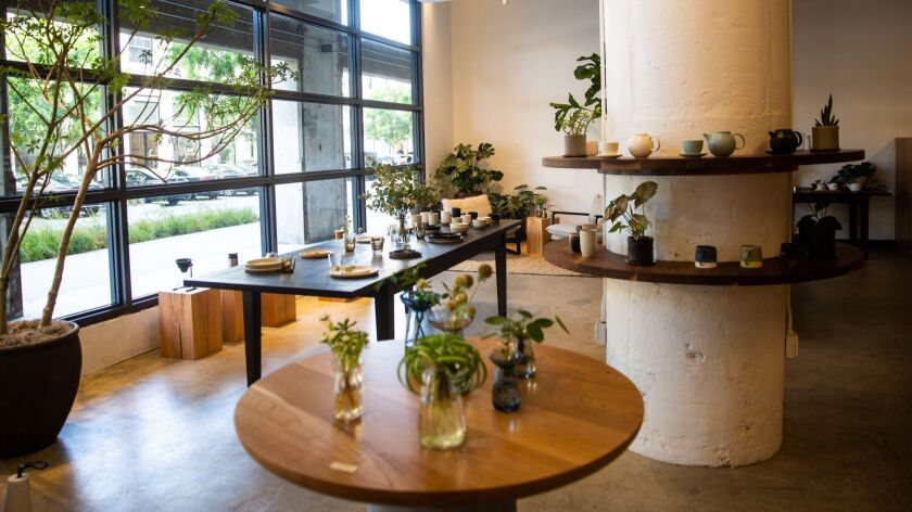LOS ANGELES, CALIF. - MAY 30: The showroom at Kinto, a Japanese tableware and home goods store, at R