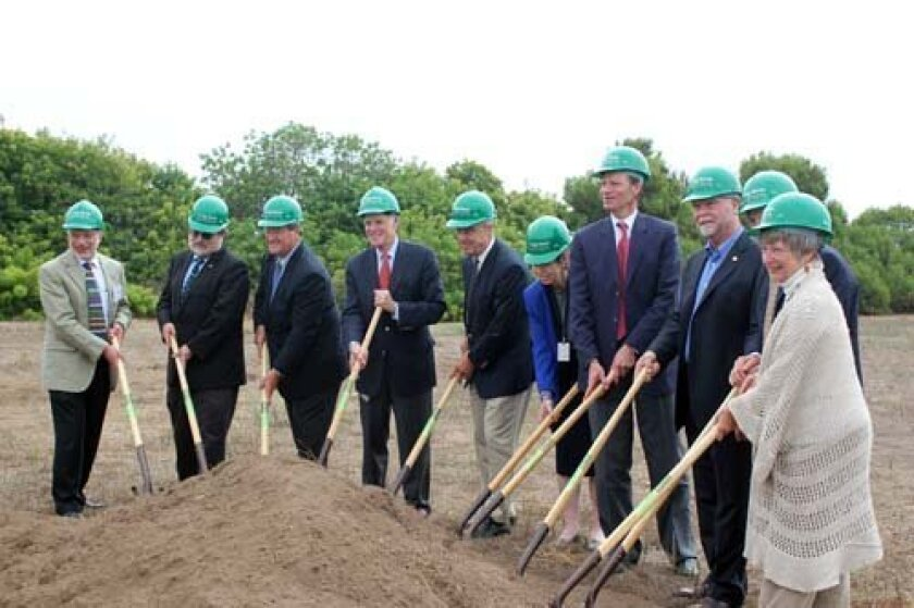 J. Craig Venter is joined by dignitaries at the groundbreaking for JCVI. Photo: Dave Schwab