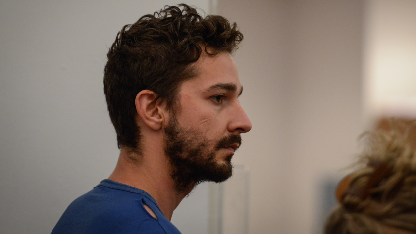 Actor Shia LaBeouf, shown in a Manhattan courtroom, is facing charges including disorderly conduct and criminal trespass.