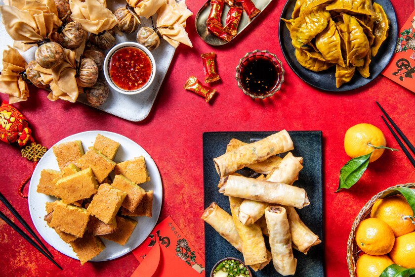 Lunar New Year dishes