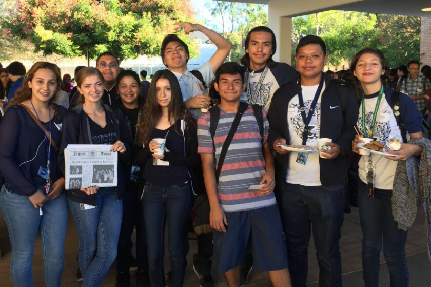 Students from South East High School in South Gate joined more than 200 student journalists for a conference on Saturday.