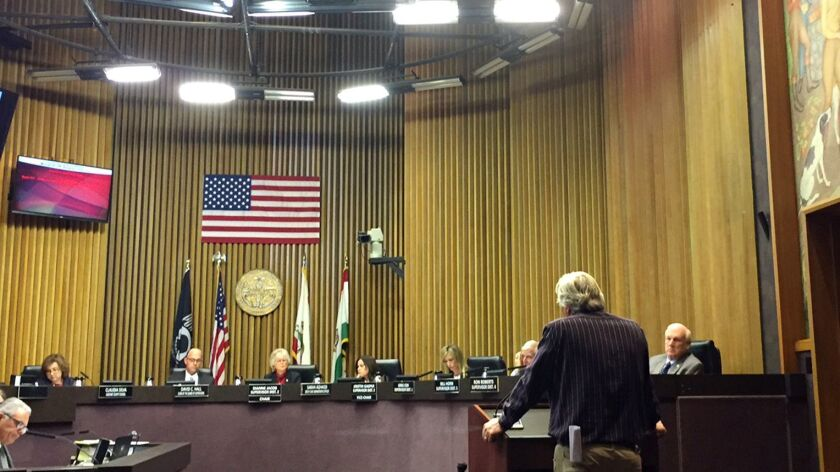 San Diego County Board of Supervisors hearing