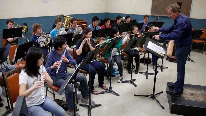 The San Diego Youth Symphony performs in 2014. The group has received NEA funding for its Community Opus Project.