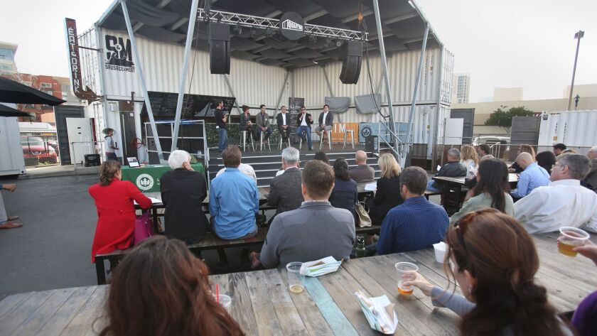 The US Green Building Council-San Diego held a panel forum on the state of sustainable housing at Quartyard Park at Park Blvd. and Market Street