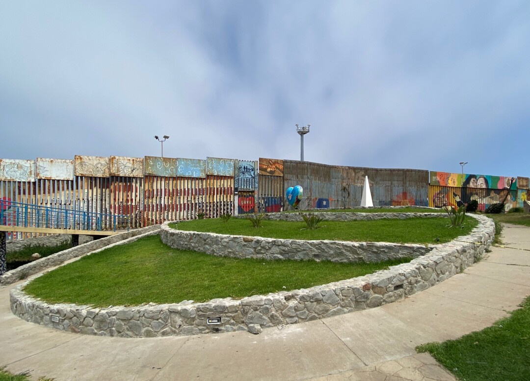 View of Friendship Park from Playas de Tijuana in August 2020.
