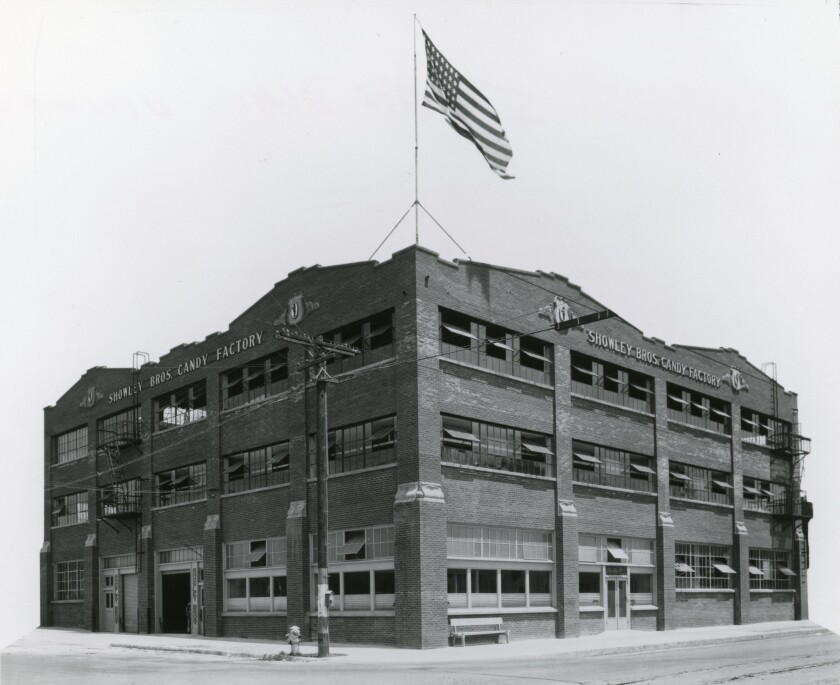 Showley Brothers Candy Factory, circa 1924.