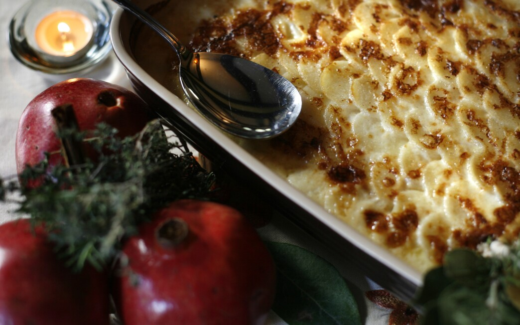Turnip-potato gratin