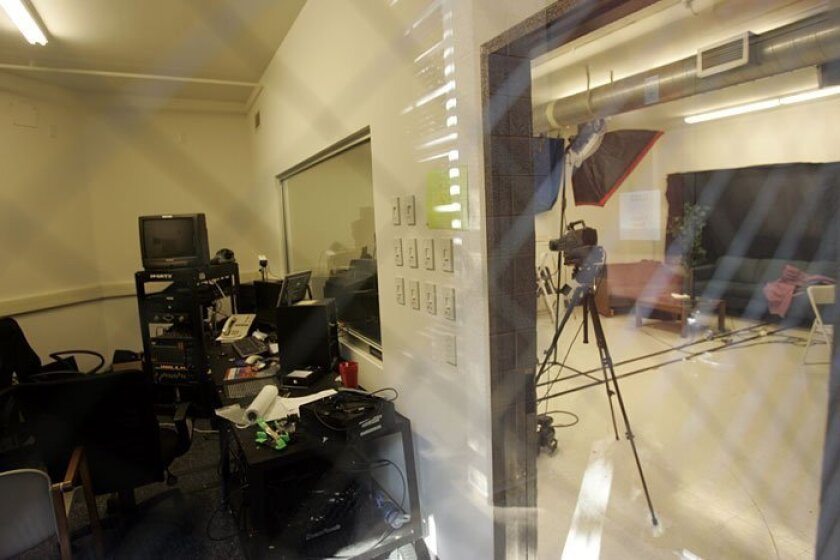 A TV studio at UCSD sat deserted yesterday after the president of the Associated Students cut off funding to media outlets across the campus.