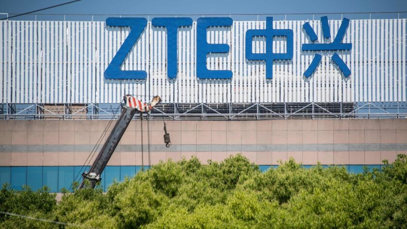 ZTE is China's second-largest telecommunications equipment producer.