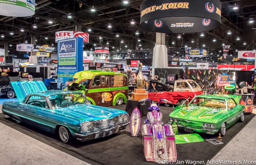 House of Kolor exhibit at the 2017 SEMA Show
