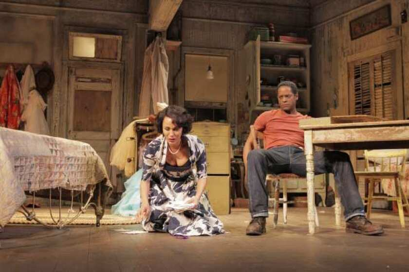 """Nicole Ari Parker and Blair Underwood in """"A Streetcar Named Desire"""" at the Broadhurst Theatre in New York."""