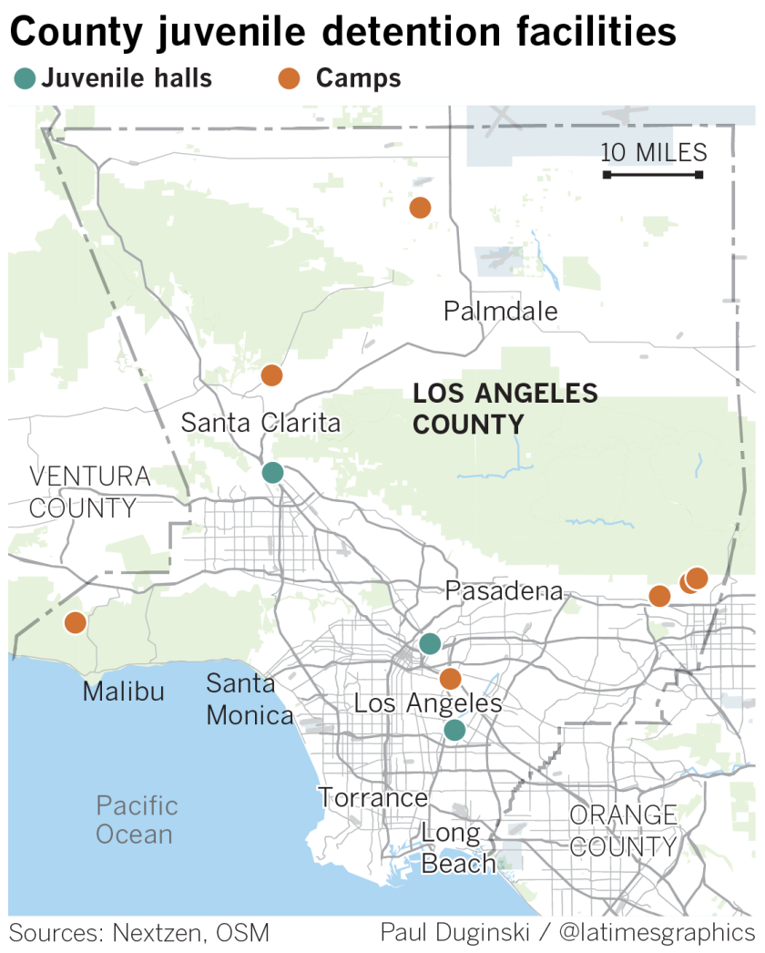 Juvenile halls and camps