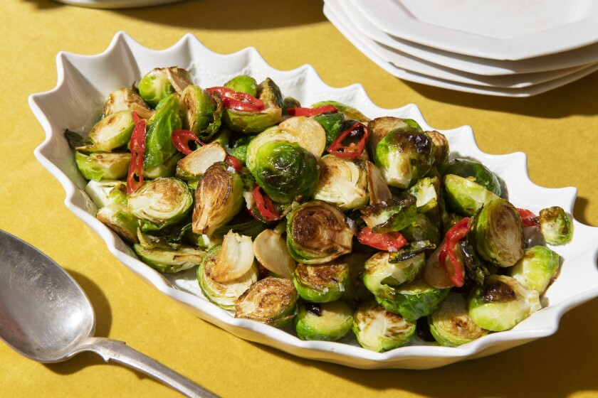 The pleasure of roasted Brussels sprouts in half the time