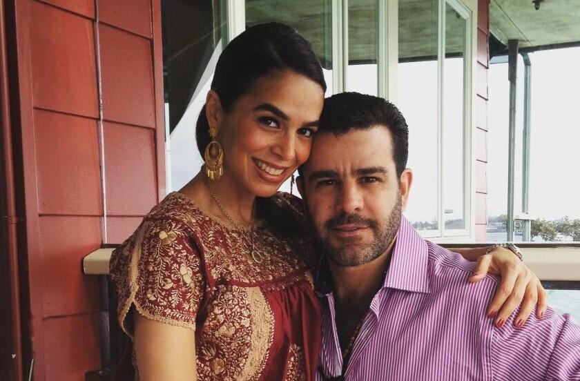 Biby Gaytán y Eduardo Capetillo en una foto de archivo.