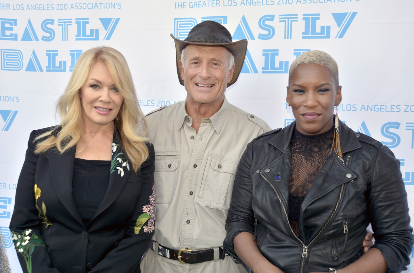 Beastly Ball honoree Jack Hanna with two of the evening's headliners, Nancy Wilson, left, and Liv Warfield.