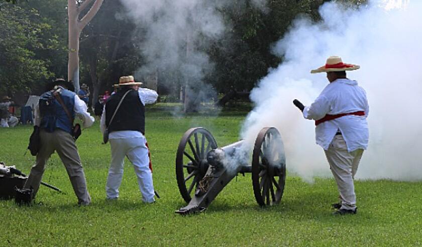 Reenactment of 1846 battle in 2018 CROP.jpg