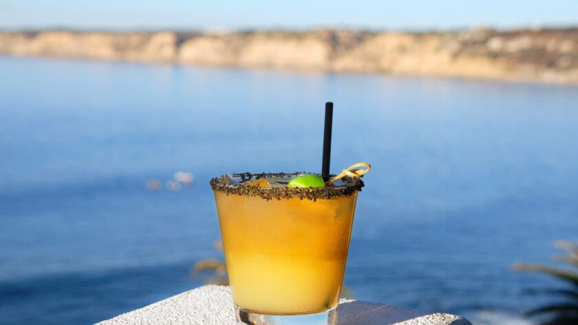 A Prospect Margarita photographed from the bar deck at Duke's La Jolla, which was recently named to OpenTable's 2018 list of America's 100 most scenic restaurants.