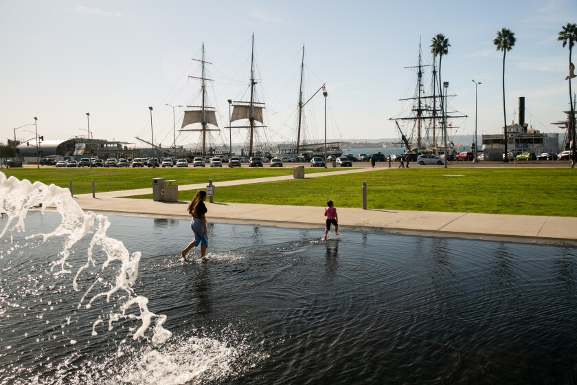 Waterfront Park  in  Downtown San Diego.