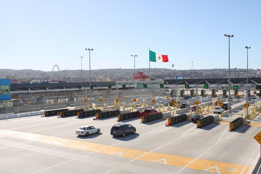 El nuevo acceso peatonal a la garita fronteriza de San Ysidro, se abrió este año.