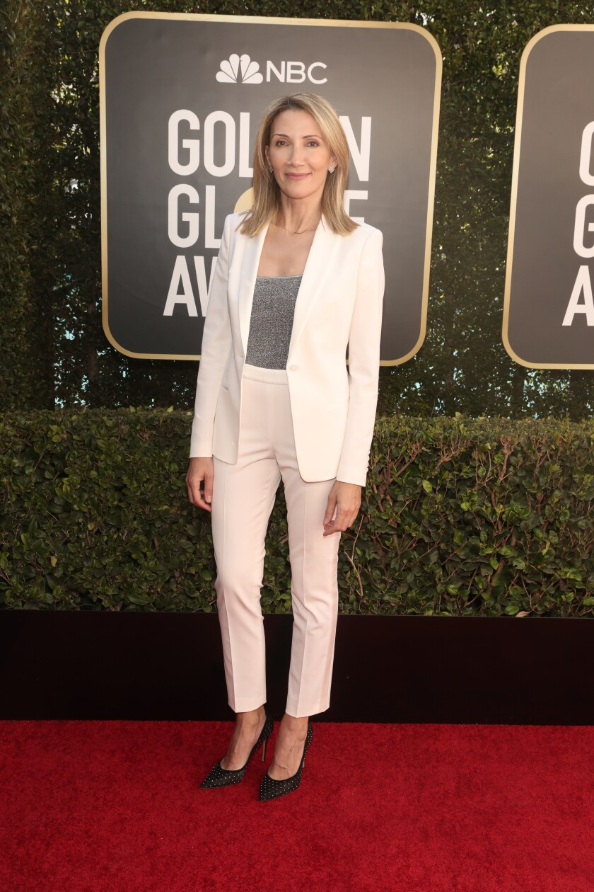 HFPA Vice President Helen Hoehne at the 78th Annual Golden Globe Awards.