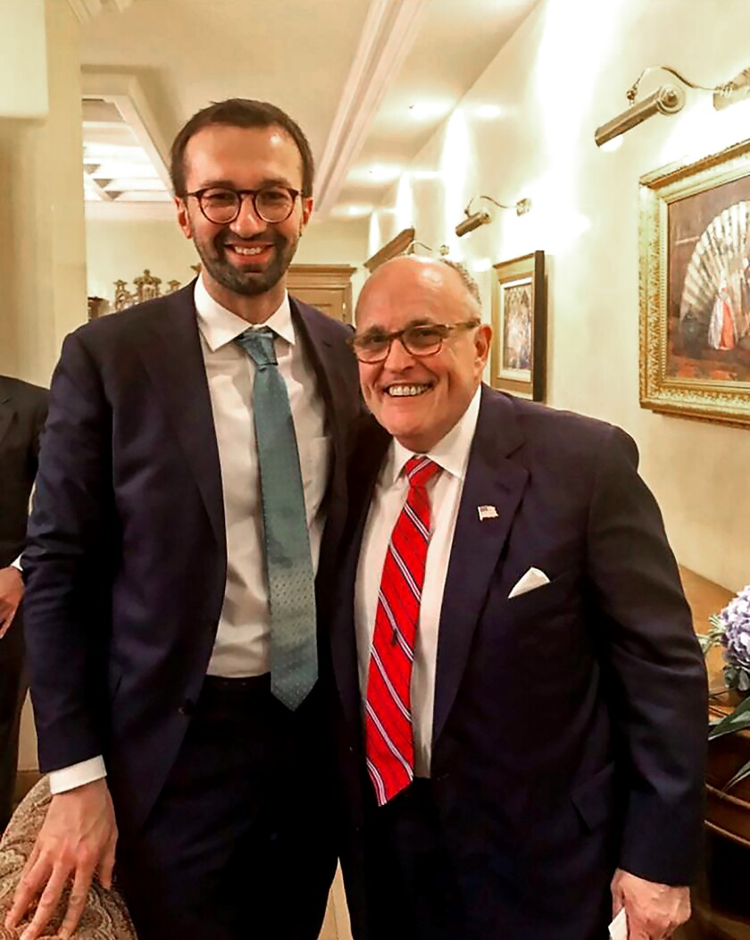 Sergei Leshchenko and Rudolph W. Giuliani in 2017