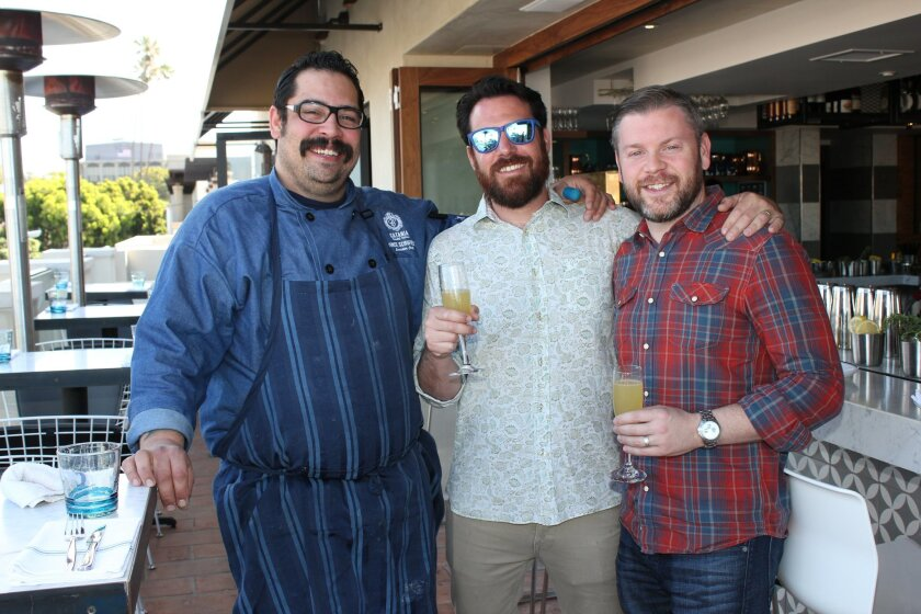 Catania restaurant's Executive Chef, Vince Schofield, owner Arturo Kassel (of Wisknladle Hospitality) and General Manager Steven McGlynn
