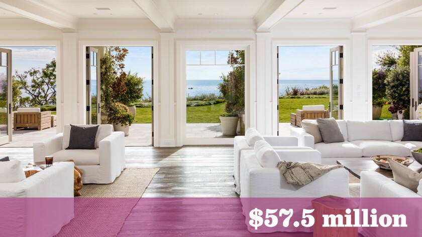 The Cape Cod-inspired compound, listed for sale in Malibu at $57.5 million, replaced a home once owned by writer and TV producer Marta Kauffman.