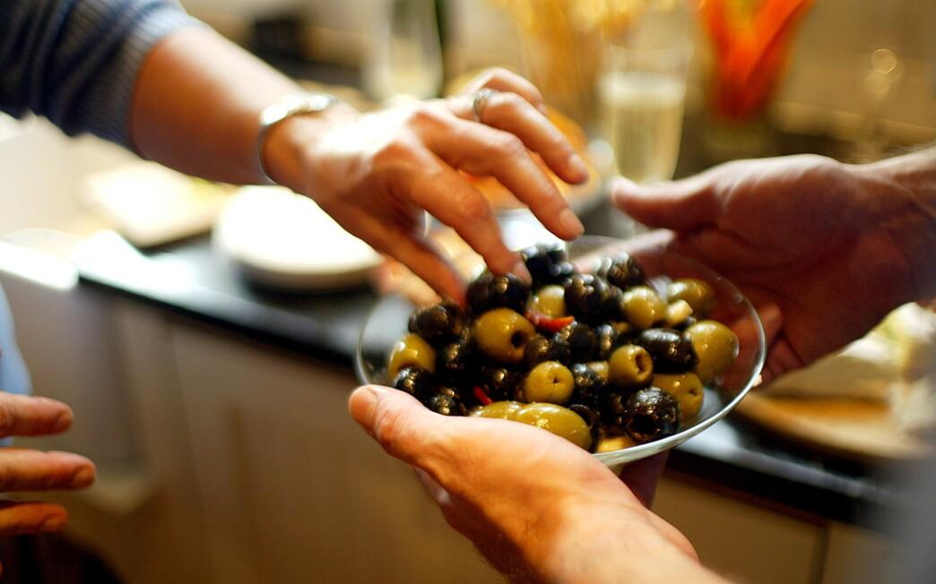 Cumin-cured olives