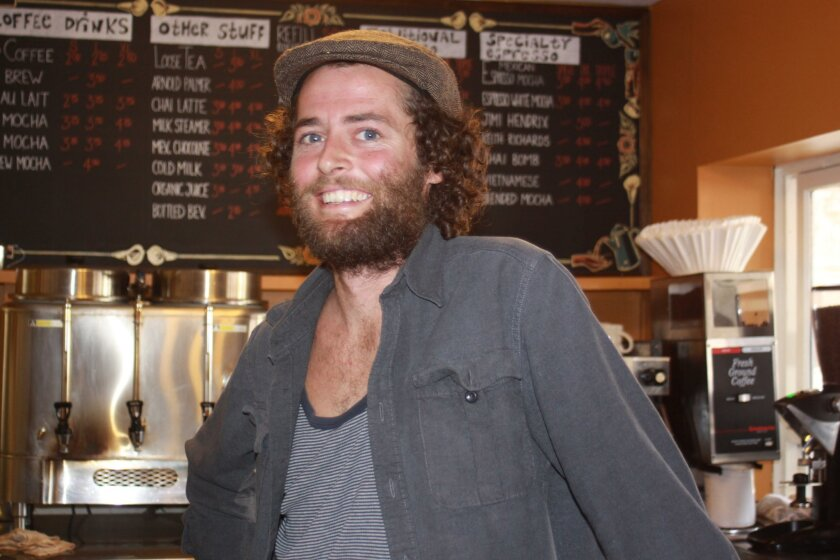 Johnny Fraher, manager of Pannikin Coffee and Tea in La Jolla