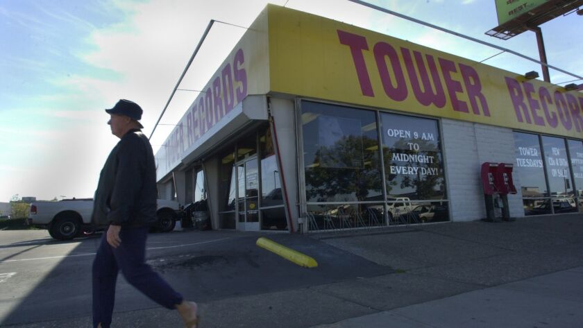 A photo from 2004 shows the Tower Records store on Sports Arena Boulevard. Like the majority of the United States stores, the Sports Arena outlet closed in 2006.