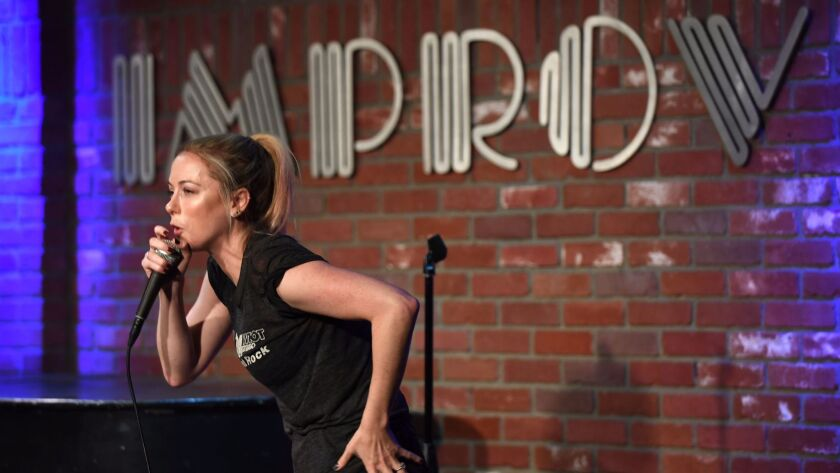 Iliza Shlesinger, one of the hardest-working stand-up comics in the business, performs at the Improv in Hollywood on Oct. 12, 2017.