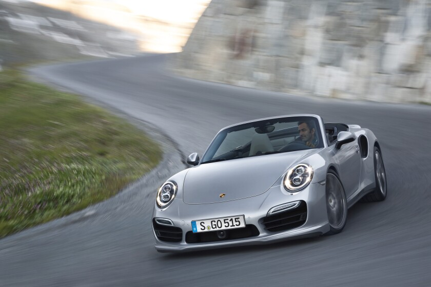 The all-new 911 Turbo (seen here) and Turbo S cabriolet will make their world debut at the 2013 L.A. Auto Show in November.