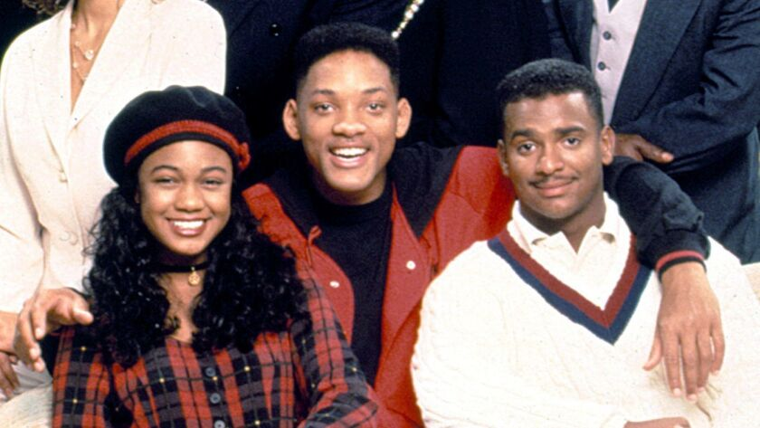 """Tatyana Ali, left, Will Smith and Alfonso Ribeiro in the original """"The Fresh Prince of Bel-Air"""""""