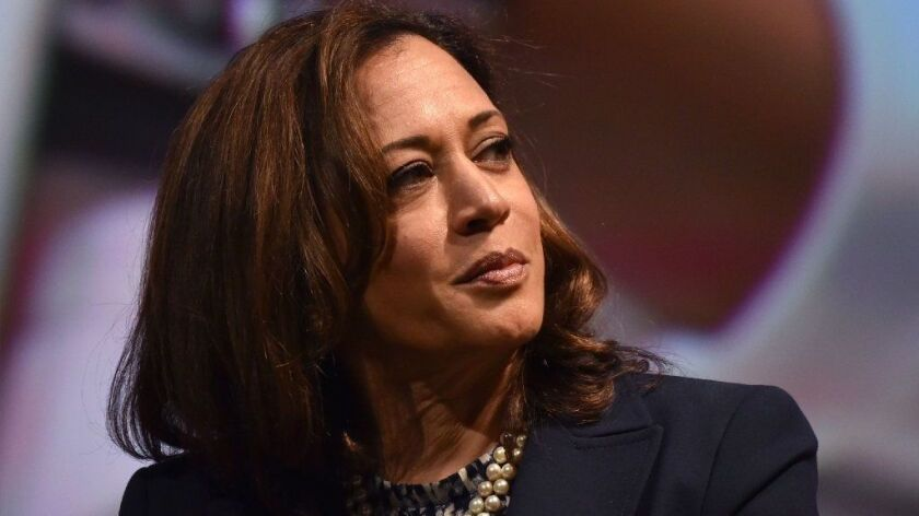 Sen. Kamala Harris at the United State of Women Summit at the Shrine Auditorium in Los Angeles last May.