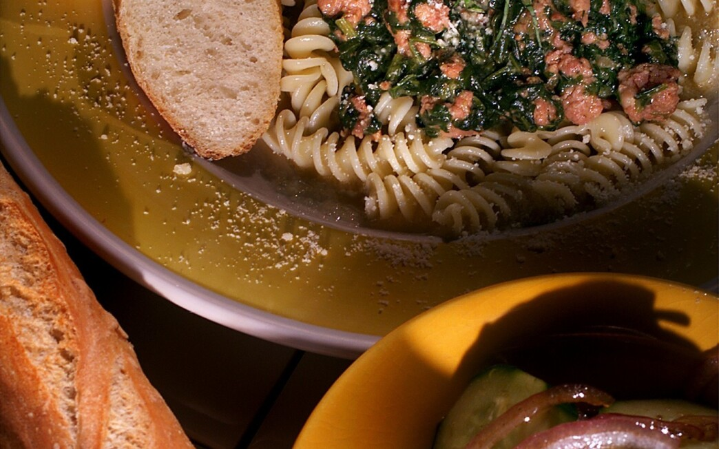 Fusilli With Creamy Spinach Sauce