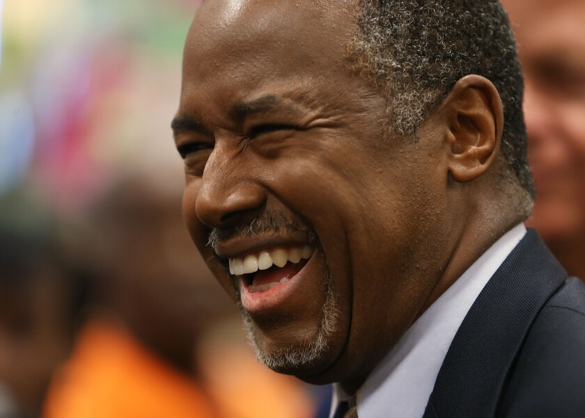 Republican presidential candidate Ben Carson at a book signing in Fort Lauderdale, Fla., on Thursday.