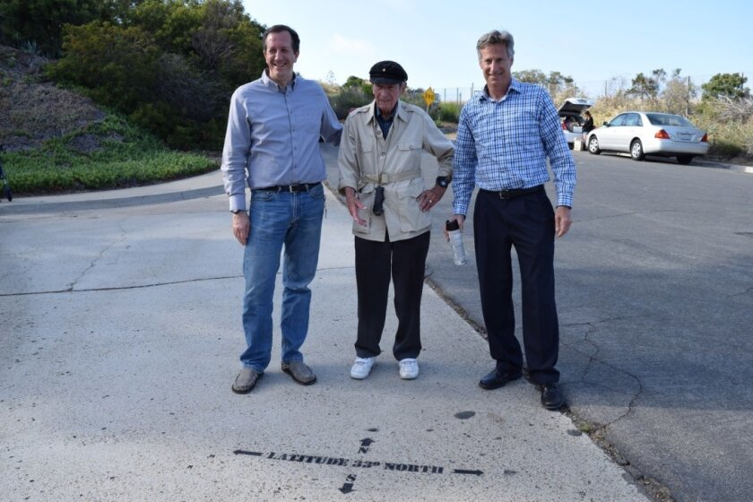 Mayor David Zito, resident Paul Sims and Associate Civil Engineer Jim Greenstein