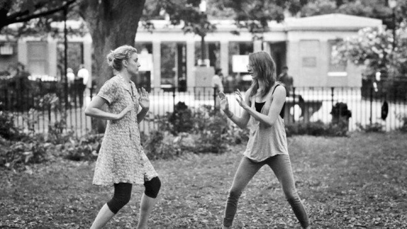 "Greta Gerwig, left, and Mickey Sumner in ""Frances Ha."""