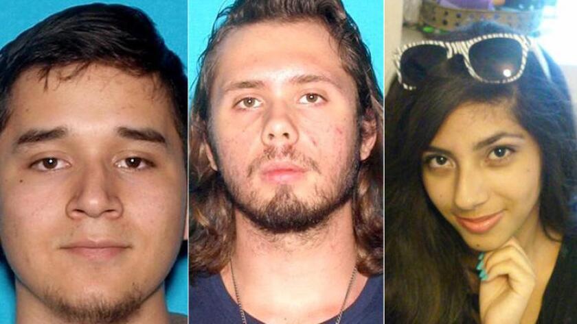 La policía de Fontana dijo que habían estado buscando a Daniel Gamboa, de 19 años; Kasey Vande de 19 y a Samantha Ornelas, de 17 años, desde el fin de semana.