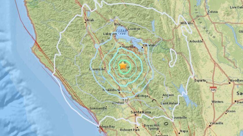 Sonoma County earthquake.