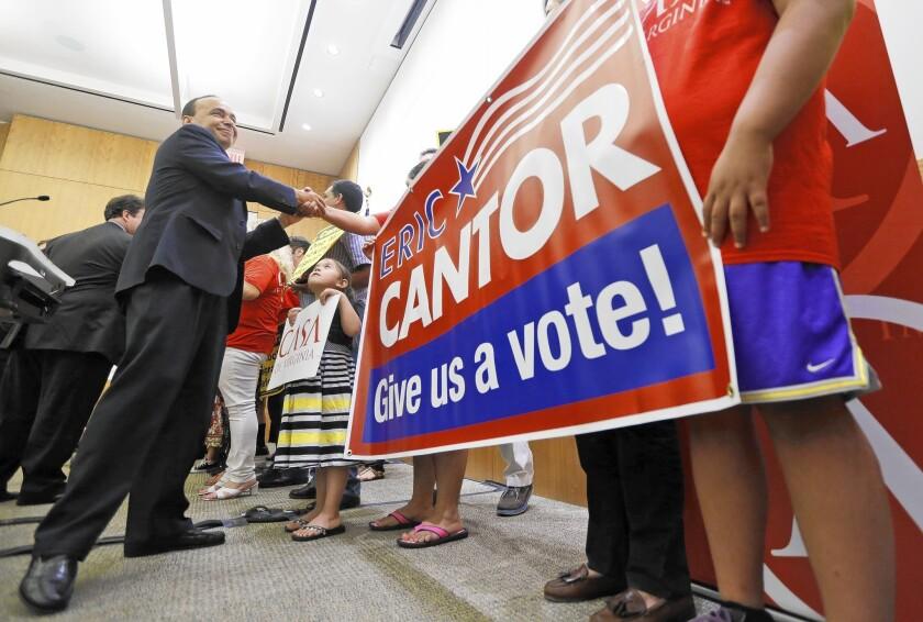 Rep. Luis Gutierrez targets Rep. Eric Cantor at rally in Richmond, Va.