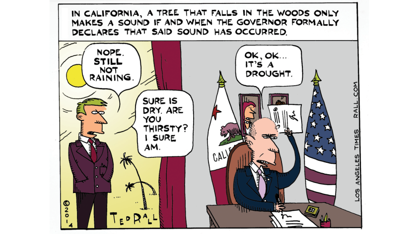 If a drought happens, is it real before a governor says so?